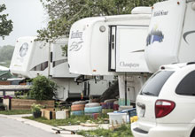 RVs at Community First! Village in Austin Texas - housing the homeless