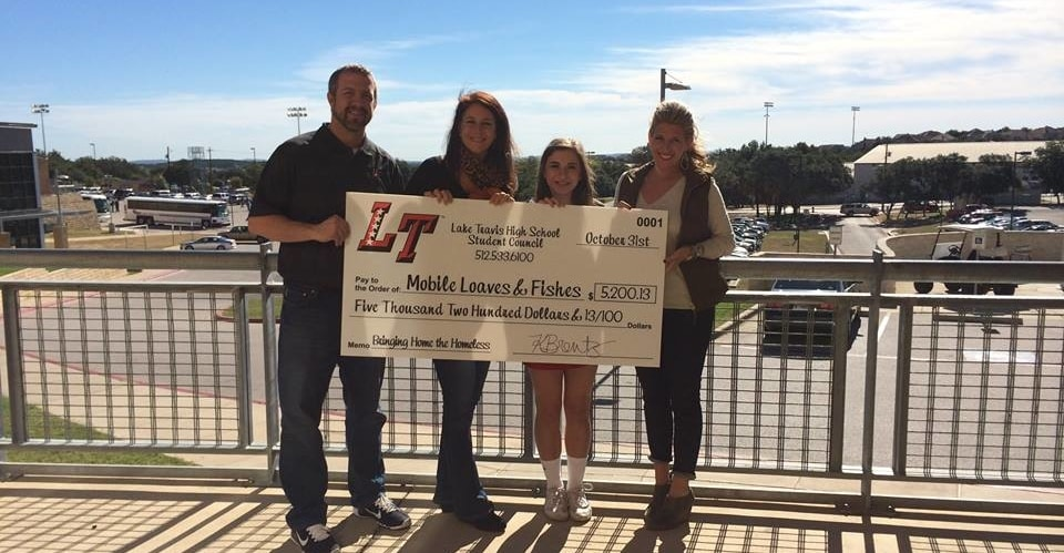 LTHS Bring the Homeless Home Check