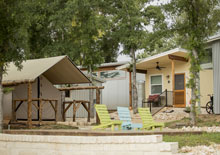 micro home streets at Community First! Village in Austin Texas - housing the homeless